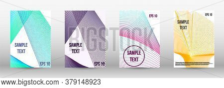 Modern Abstract Background. A Set Of Modern Abstract Oblong Objects From Vector Abstract Lines. Wave