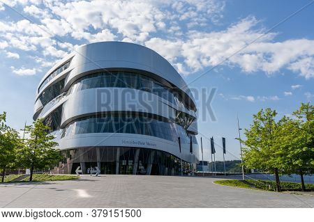 Stuttgart, Bw / Germany - 21 July 2020: View Of The Mercedes-benz Museum In Stuttgart