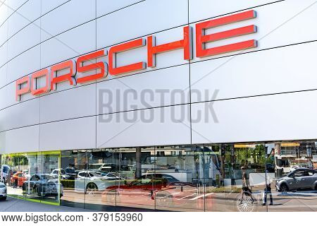 Stuttgart-zuffenhausen, Bw / Germany - 22 July 2020: View Of The Porsche Sales Office And Headquarte