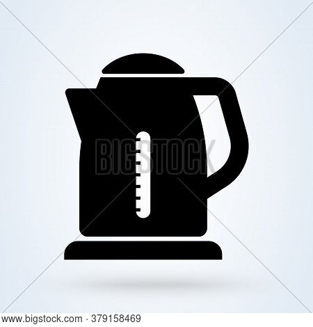 Teapot Or Electric Kettle. Isolated On White. Household Appliances. Electronic Device. Home Applianc