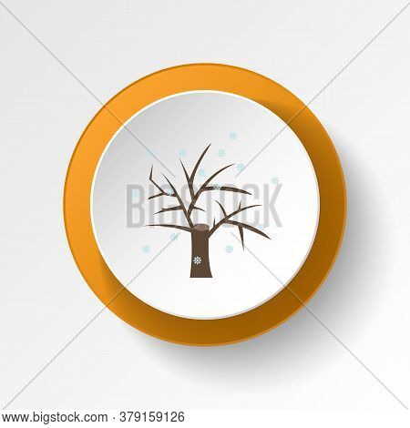 Tree In Winter Snow Color Icon. Elements Of Winter Wonderland Multi Colored Icons. Premium Quality G