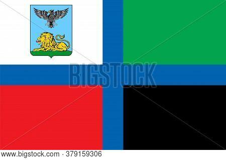 Flag Of Belgorod Oblast In Russian Federation