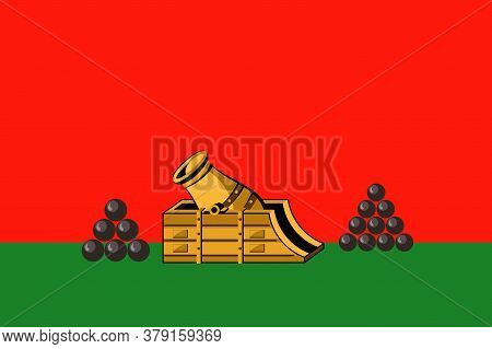 Flag Of Bryansk Is A City And The Administrative Center Of Bryansk Oblast, Russia. Vector Illustrati