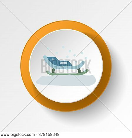 Sled Color Icon. Elements Of Winter Wonderland Multi Colored Icons. Premium Quality Graphic Design I
