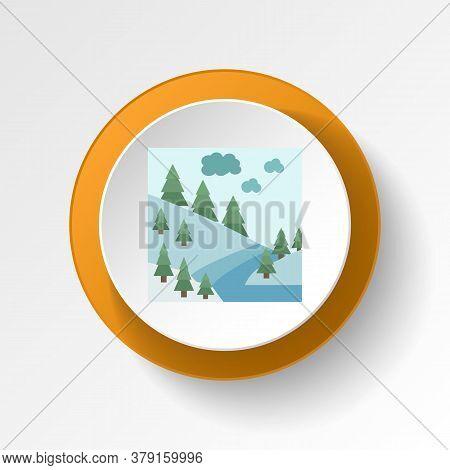 River Color Icon. Elements Of Winter Wonderland Multi Colored Icons. Premium Quality Graphic Design