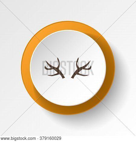 Raindeer Horn Color Icon. Elements Of Winter Wonderland Multi Colored Icons. Premium Quality Graphic