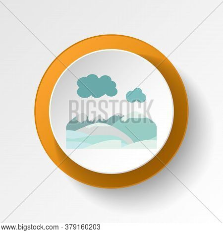 Mountains Snow Color Icon. Elements Of Winter Wonderland Multi Colored Icons. Premium Quality Graphi