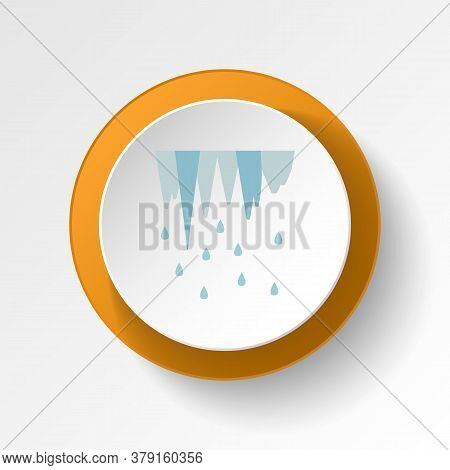 Icicle Color Icon. Elements Of Winter Wonderland Multi Colored Icons. Premium Quality Graphic Design