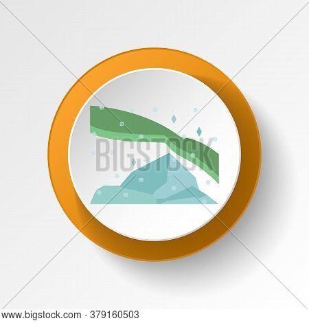 Green Flash Winter Green Color Icon. Elements Of Winter Wonderland Multi Colored Icons. Premium Qual