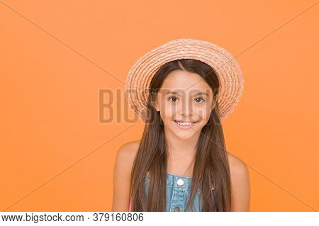 Fancy Outfit. Summer Fashion. Good Vibes. Beach Style. Beauty In Hat. Portrait Of Happy Cheerful Gir