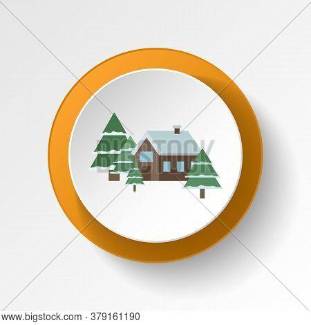Cabin Winter Color Icon. Elements Of Winter Wonderland Multi Colored Icons. Premium Quality Graphic