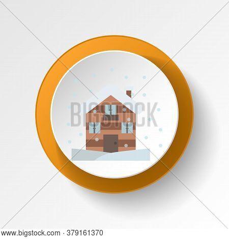 Cabin Winter Snow Color Icon. Elements Of Winter Wonderland Multi Colored Icons. Premium Quality Gra