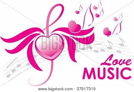 Love Music, Vector Illustration