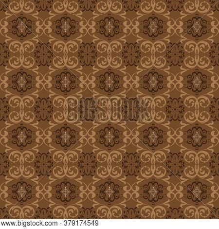 Soft Mocca Color Design For Tradisional Java Batik Typical.