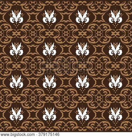 Unique Pattern For Indonesian Batik Clothes With Dark Brown Color Design.