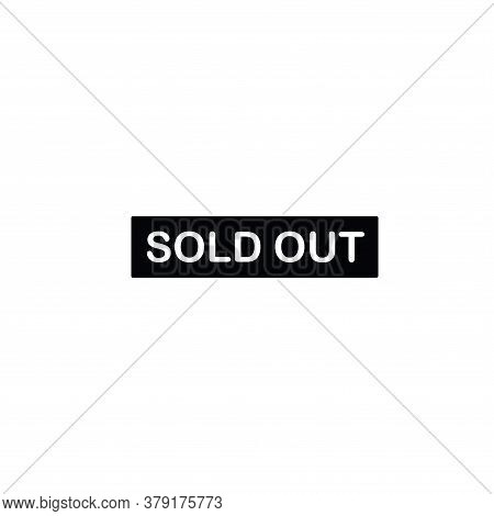 Illustration Vector Graphic Of Sold Out Label