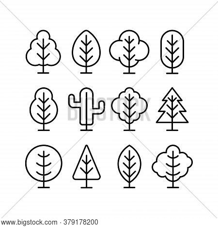 Tree. Tree vector. Tree icon vector. Tree icon. Tree logo. Tree Shillouette Vector. Tree vector design. Tree symbol vector. Tree Sign. Tree Logo icon. Tree Leaves vector logo design template illustration. Set of Tree icon vector illustration