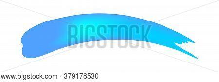 Blue Brush Marks Isolated On White, Brushstroke Blue For Watercolor Paint, Blue Stripe Brush And Sta