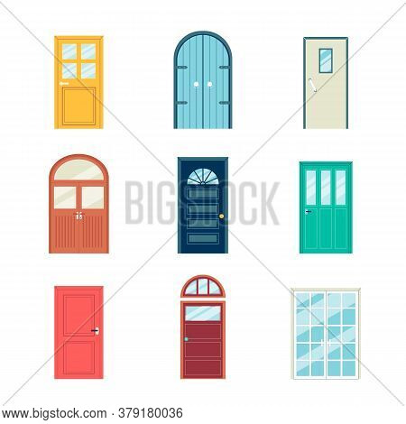Colorful Door Set - Different Styles And Shapes Of Doors