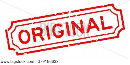Grunge Red Original Word Rubber Business Seal Stamp On White Background