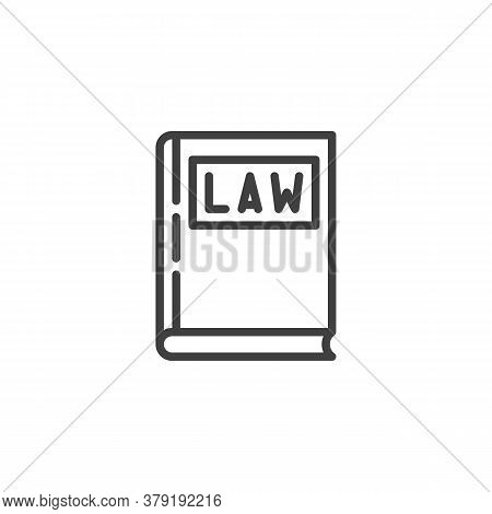 Law Book Line Icon. Linear Style Sign For Mobile Concept And Web Design. Judgment Book Outline Vecto