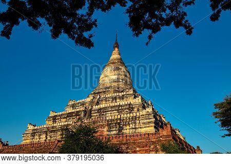 Shwe Nan Yin Taw Monastic Pagoda In Bagan, Myanmar Former Burma In Asia