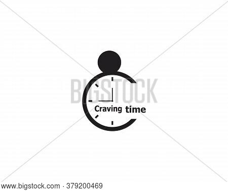 Craving Time Icon And Symbol Vector Template