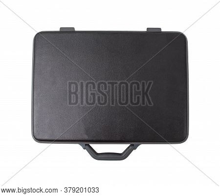 Black Modern Plastic Case For Money And Other Organizers On White Background, Isolate
