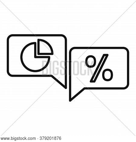 Conversion Rate Chat Icon. Outline Conversion Rate Chat Vector Icon For Web Design Isolated On White