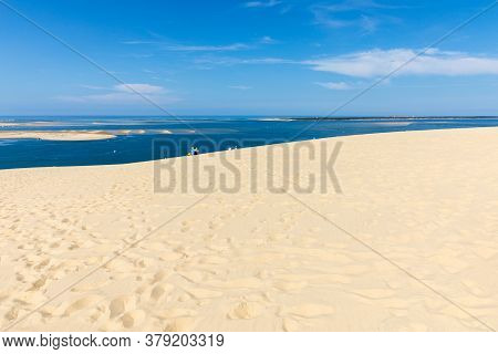 View From The Dune Of Pilat, The Tallest Sand Dune In Europe. La Teste-de-buch, Arcachon Bay, Aquita