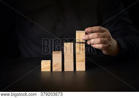 Conceptual Image Of Business Vision And Start Up. Conceptual Image Of Business Determination And Amb