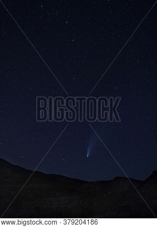 Incredible Starry Night Sky Background With Trillions Of Stars, Space Bodies, Constellation, Satelli