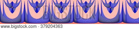 Illusion Type Sari Lace Border Seamless Pattern