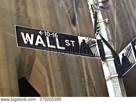 New York, Usa - January 7, 2011: A Wall Street Sign In Manhattan New York.