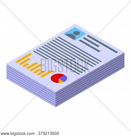 Audit Documents Icon. Isometric Of Audit Documents Vector Icon For Web Design Isolated On White Back