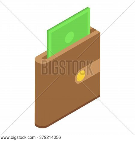 Audit Money Wallet Icon. Isometric Of Audit Money Wallet Vector Icon For Web Design Isolated On Whit