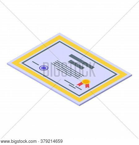 Inclusive Education Diploma Icon. Isometric Of Inclusive Education Diploma Vector Icon For Web Desig