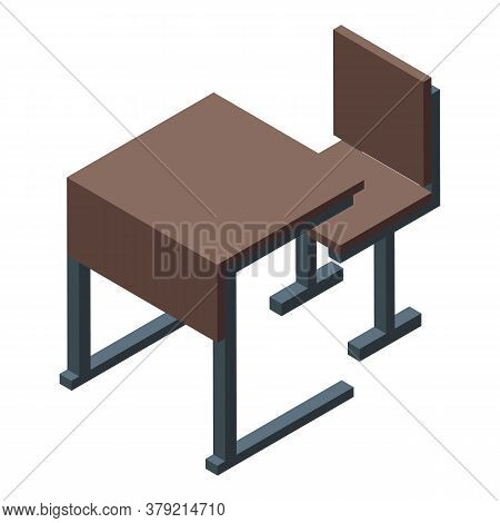 Inclusive Education Chair Table Icon. Isometric Of Inclusive Education Chair Table Vector Icon For W