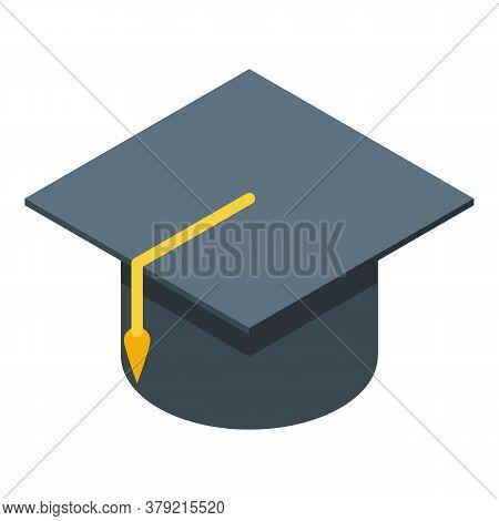 Inclusive Education Graduation Hat Icon. Isometric Of Inclusive Education Graduation Hat Vector Icon