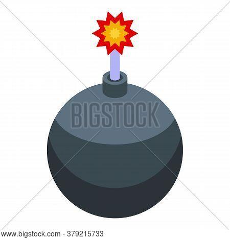 Breakthrough Bomb Icon. Isometric Of Breakthrough Bomb Vector Icon For Web Design Isolated On White