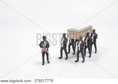 A Dancing Coffin. Meme With Black Men Who Carry The Coffin And Dance