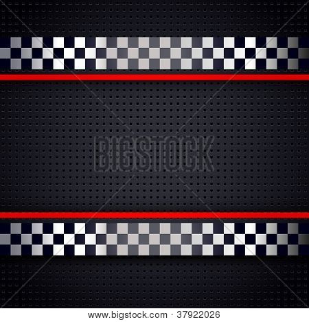 Structured metallic perforated for race sheet background