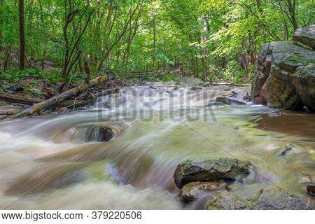 He Roaring Rocks Stream In Warren County New Jersey.