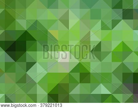 Multi-colored Rectangular Pixel Background. The Texture Consisting Of Multi-colored Triangles.