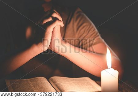 Praying Hands. Eucharist Therapy Bless God Helping Repent Catholic Easter Lent Mind Pray. Christian