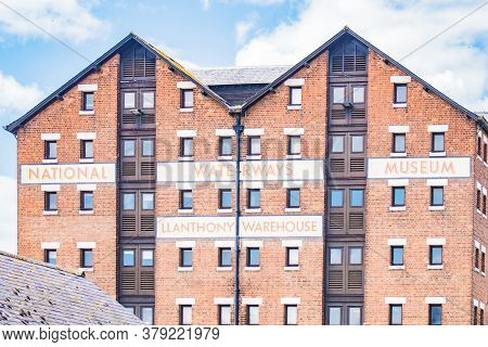July 19 2020 Gloucester England - Regenerated Gloucester Dock Warehouse To Tourist Attraction