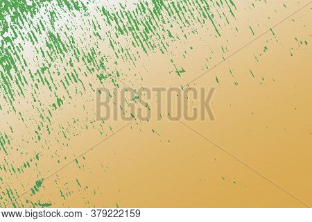 Empty Grunge Yellow Color Background. Distressed Orange Color Texture With Peeled Paint And Scratche