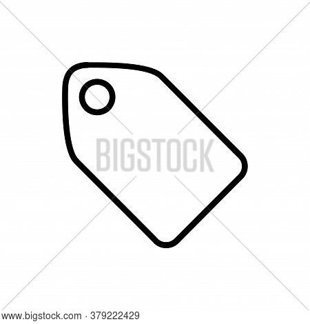 Price Tag Line Icon Vector. Price Tag Icon Isolated On White Background. Price Tag Icon Simple And F