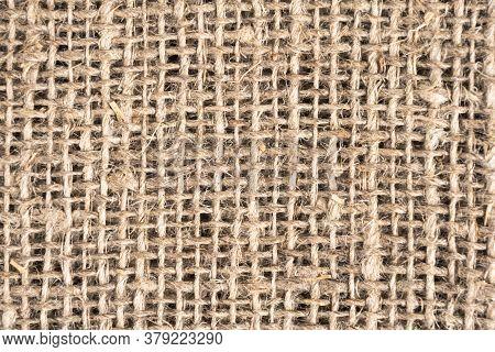 Yellow Linen Fabric Texture. Linen Natural Canvas Texture With Pattern. Fabric Texture. Rough Fabric