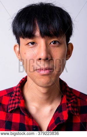 Portrait Of Young Handsome Asian Hipster Man